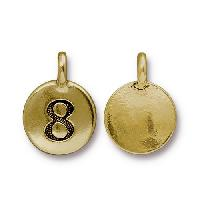 TierraCast Charm Number 8 - Antique Gold