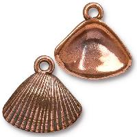 TierraCast Charm Shell - Antique Copper
