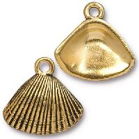 TierraCast Charm Shell - Antique Gold