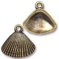 TierraCast Charm Shell - Antique Brass