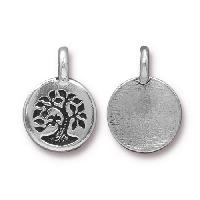 TierraCast Charm Tree - Silver Plated