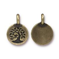 TierraCast Charm Tree - Antique Brass