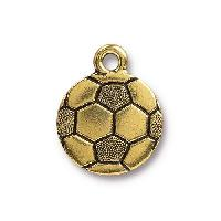 TierraCast Charm Soccer Ball - Antique Gold