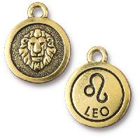 TierraCast Charm Leo - Antique Gold