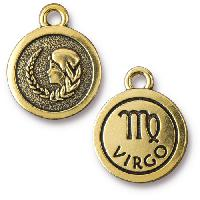 TierraCast Charm Virgo - Antique Gold