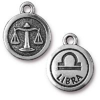 TierraCast Charm Libra - Silver Plate