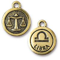 TierraCast Charm Libra - Antique Gold