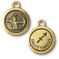 TierraCast Charm Sagittarius - Antique Gold