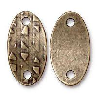 TierraCast Link Rock and Roll Oval - Antique Brass