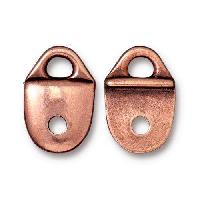 TierraCast Link Plain Strap Tip - Antique Copper