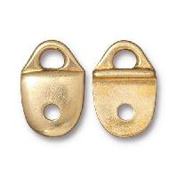 TierraCast Link Plain Strap Tip - Gold Plated
