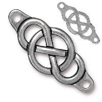 TierraCast Link Infinity Centerpiece - Antique Silver