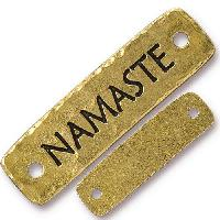 TierraCast Link Namaste - Antique Gold