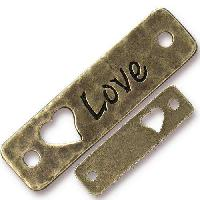 TierraCast Link Love - Antique Brass