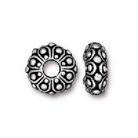 TierraCast Bead Casbah Large Hole - Silver Plate