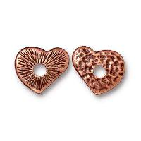 TierraCast Bead Rivetable Heart - Antique Copper