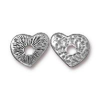 TierraCast Bead Rivetable Heart - Antique Silver