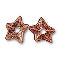 TierraCast Bead Rivetable Star - Antique Copper
