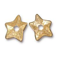 TierraCast Bead Rivetable Star - Gold Plated