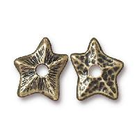 TierraCast Bead Rivetable Star - Antique Brass
