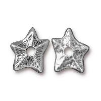 TierraCast Bead Rivetable Star - Antique Silver