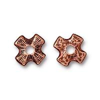 TierraCast Bead Rivetable Cross - Antique Copper