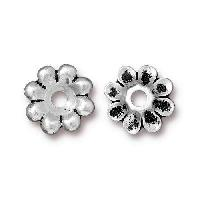 TierraCast Bead Rivetable Flower - Silver Plated
