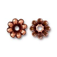 TierraCast Bead Rivetable Flower - Antique Copper