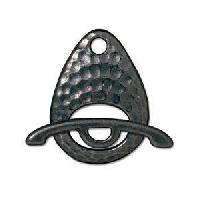 TierraCast Clasp Toggle Hammertone Ellipse - Black Plate