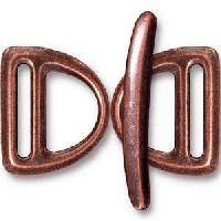 TierraCast Clasp Toggle Slotted D-Ring - Antique Copper