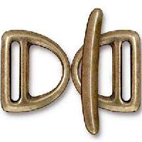 TierraCast Clasp Toggle Slotted D-Ring - Antique Brass (2pcs)