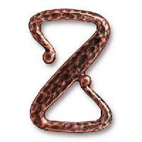 TierraCast Clasp Z Hook - Antique Copper