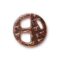 TierraCast Tri-Buckle for 5mm Leather - Antique Copper