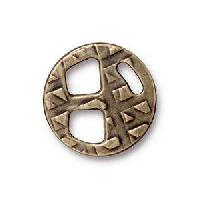 TierraCast Tri-Buckle for 5mm Leather - Antique Brass