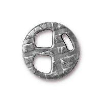 TierraCast Tri-Buckle for 5mm Leather - Antique Silver