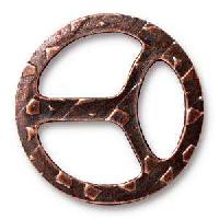 TierraCast Tri-Buckle for 10mm Leather - Antique Copper