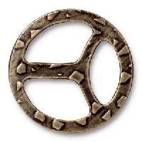 TierraCast Tri-Buckle for 10mm Leather - Antique Brass