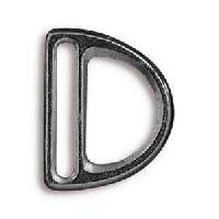 TierraCast Clasp 20mm Slotted D Ring - Black Plate
