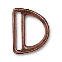 TierraCast Clasp 20mm Slotted D Ring - Antique Copper