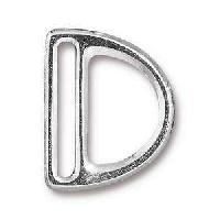 TierraCast Clasp 20mm Slotted D Ring - Silver Plate