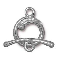 TierraCast Clasp Toggle Renaissance - Silver Plated