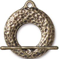 TierraCast Clasp Toggle Artisan - Antique Brass (2pcs)