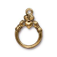 TierraCast Ring Claddagh - Antique Gold