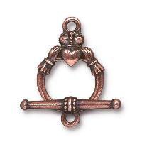 TierraCast Clasp Toggle Claddagh (2) - Antique Copper