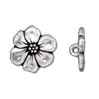 TierraCast Button Apple Blossom - Silver Plated