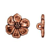 TierraCast Button Apple Blossom - Antique Copper