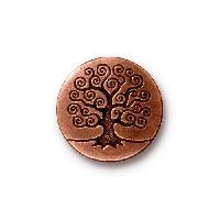 TierraCast Button Tree Of Life - Antique Copper