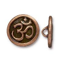 TierraCast Button Om - Antique Copper