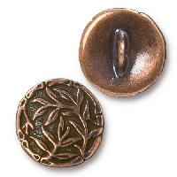 TierraCast Button Bamboo - Antique Copper