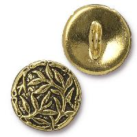 TierraCast Button Bamboo - Antique Gold
